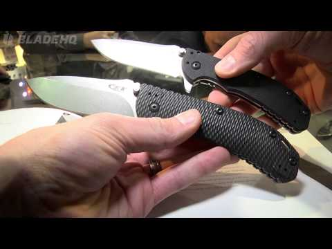 "Zero Tolerance Hinderer 0566BW Assisted Opening Knife G-10 (3.25"" BlackWash) ZT"