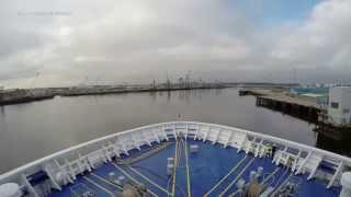 DFDS in 4K: IJmuiden (NL) to Newcastle (UK) time lapse. Ship King Seaways