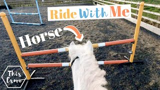 Horse Ride With Me + Get Ready, Groom And Tack Up For Showjumping | This Esme