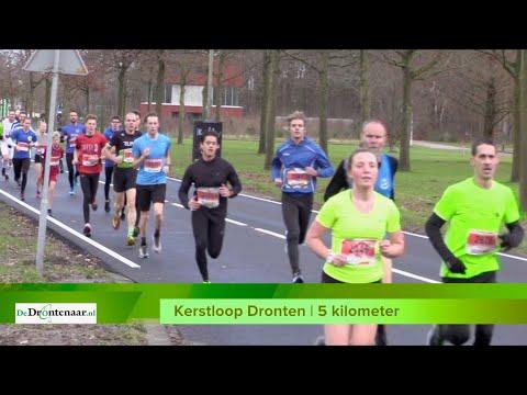 VIDEO | Alle 5-kilometerlopers van de Kerstloop kort na de start op De West in Dronten