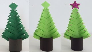 ARBOLITO NAVIDEÑO DE PAPEL. PAPER CHRISTMAS TREE. DECORACIONES NAVIDEÑAS. CHRISTMAS DECORATIONS.