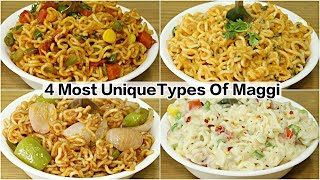 4 Types of Maggi Recipe   Masala Maggi   Makhni Masala Maggi   Chinese Maggi   Cheesy Italian Maggi
