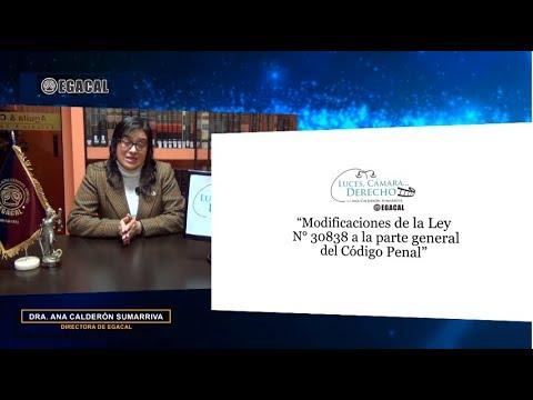 Programa 87 - Modificaciones a la Parte General del Código Penal (Ley 30838) - Luces Cámara Derecho