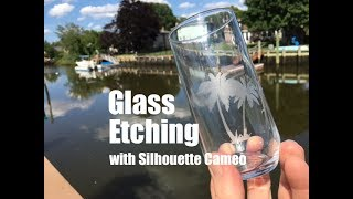 DIY Easy Glass Etching With Silhouette Cameo Vinyl Cutting Machine