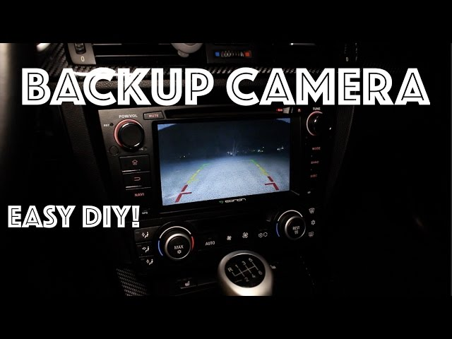 How To Install A Backup Camera // WITH NIGHT VISION! / bmw