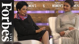 Priyanka Chopra And Indra Nooyi On Breaking Barriers And Engaging Billions | Forbes Live