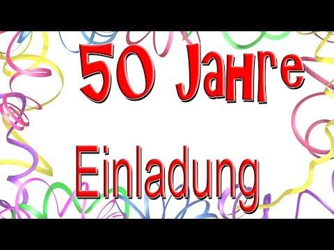50 Jahre Einladungskarten Geburtstag