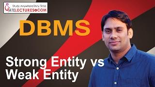 Database Management System 11 Strong Entity vs Weak Entity