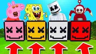 Minecraft PE : DO NOT CHOOSE THE WRONG MARSHMELLO! (Peppa Pig, Spongebob, Marshmello & Po)