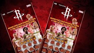 2 X $5 Houston Rockets Texas Lottery Scratch Off Tickets