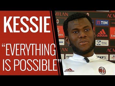 Franck Kessie interview after AC Milan v Arsenal - Europa League 2017/18