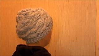 Женская осенняя шапка, спицами