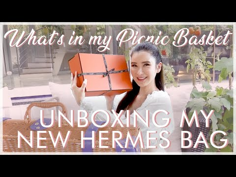 WHAT'S IN MY PICNIC BASKET + UNBOXING MY NEW HERMES BAG   JAMIE CHUA