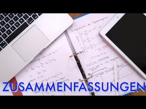 Zusammenfassungen Schreiben // Vorlesungen Nacharbeiten
