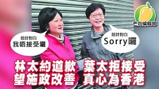 20191212I 建制失利 林太約道歉 葉太拒接受 望施政改善 真心為香港    芒向快報