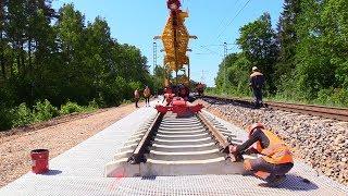 Капитальный ремонт железной дороги - все процессы / Railway track complete repair - all processes