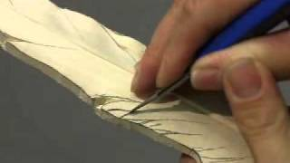 How To Carve A Pheasant Feather