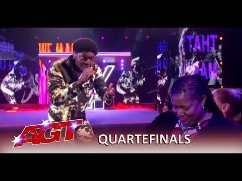 Joseph Allen: Singer Rapper Performs HEARTFELT Song To His Mom | America's Got Talent 2019 (видео)