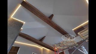 Матові натяжні стелі в будинку з дерева, бруса - видео 2