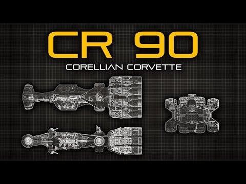 Korveta CR90 ze Star Wars