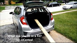 Can you fit a 8 feet 2x4 lumber in a 2015 Honda Fit? Let us See!