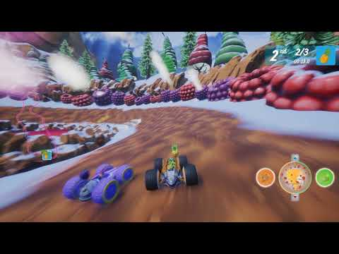 Gameplay de All-Star Fruit Racing