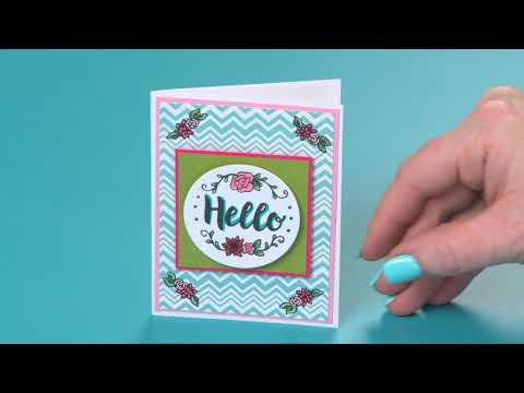 DIY Sizzix Sidekick Starter Kit Hello Mini Card