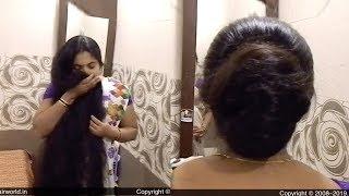 ILHW  Rapunzel Deepa's Sensual Bun Flaunting,Bun Drop, Self Hair Play & Self Hair Smelling