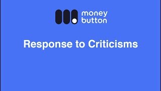 Response to Criticisms