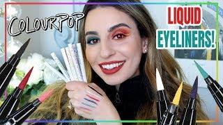 Colourpop Liquid Eyeliners: Swatches & Demo!