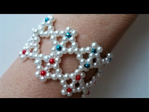 How To Make 2 Pearl Bracelets - Unique Design Jewelry