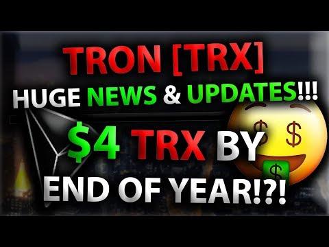 TRON [TRX] HUGE NEWS & UPDATES!!! $4 TRX BY END OF YEAR!?! *HUGE Leaked TRX News!!!* (видео)