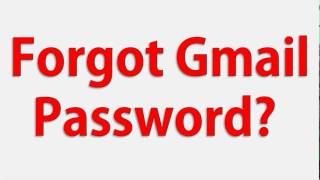 How To Recover Forgotten Gmail Password OR Forgot Gmail Password