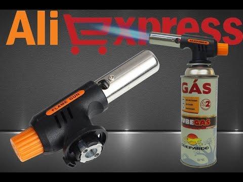 Газовая горелка (Flame Gun) в пластиковом корпусе из Китая (aliexpress)