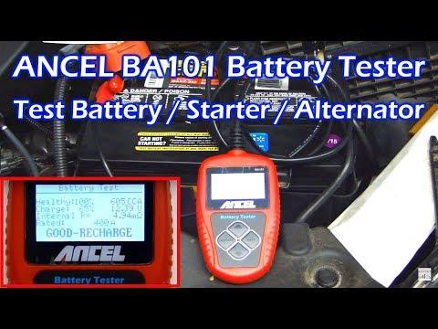 ANCEL BA101 Professional Battery / Starter / Alternator Tester Analyzer