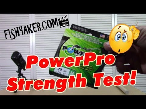 Is PowerPro braided fishing line as strong as it says? – Breaking Strength Test: Episode 631