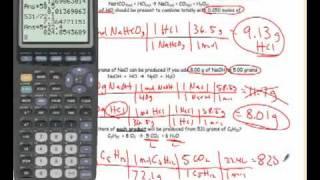 Test Review- Unit Seven- Stoichiometry