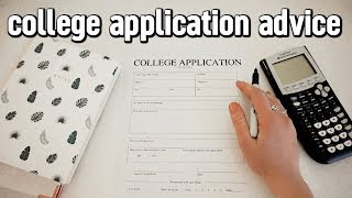 college application advice | things i wish i knew BEFORE applying to college!