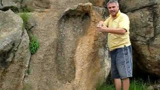 Giant Foot Print 200 Million Yrs Old - South Africa