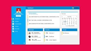 Designing a Modern Flat Desktop Application of a University Student Dashboard in C# VB NET