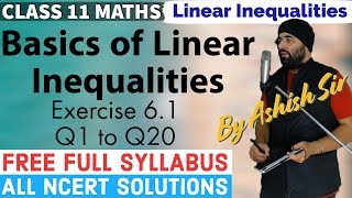 Exercise 6.1 Linear Inequalities Class 11 IIT JEE Mains