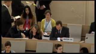 Manif Pour Tous : La Répression Policière Dénoncée à L'ONU  (Genève, Conseil Des Droits De L'homme)