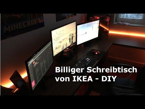 Billiger Schreibtisch für 150€ | DIY von IKEA [HD]