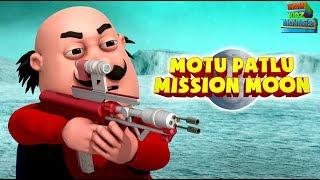 Motu Patlu Mission Moon - Full Movie | Animated Movies |  Wow Kidz Movies