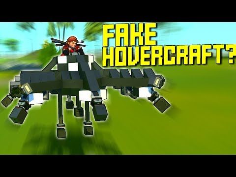 I Made A Fake Hovercraft Using Pistons! - Scrap Mechanic Gameplay