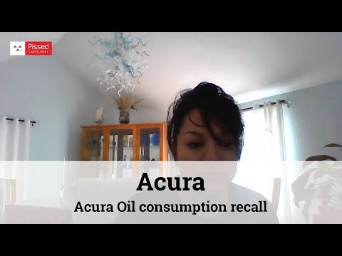 Acura Oil consumption recall