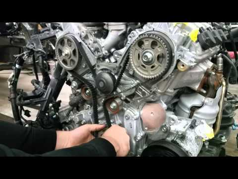 Фото к видео: SETTING UP TIMING BELT ON HONDA ACURA 3.2L 3.5L 3.7L J-SERIES ENGINE IN DETAILS!!!