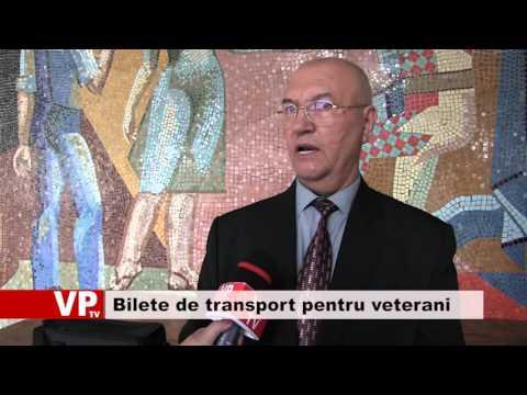 Bilete de transport pentru veterani