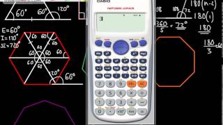 GCSE Maths - Interior and Exterior Angles in Polygons - Sum and Each - Foundation and Higher