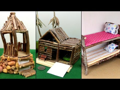 ❣DIY Log Fairy House Lamp Using a Coke Plastic Bottle